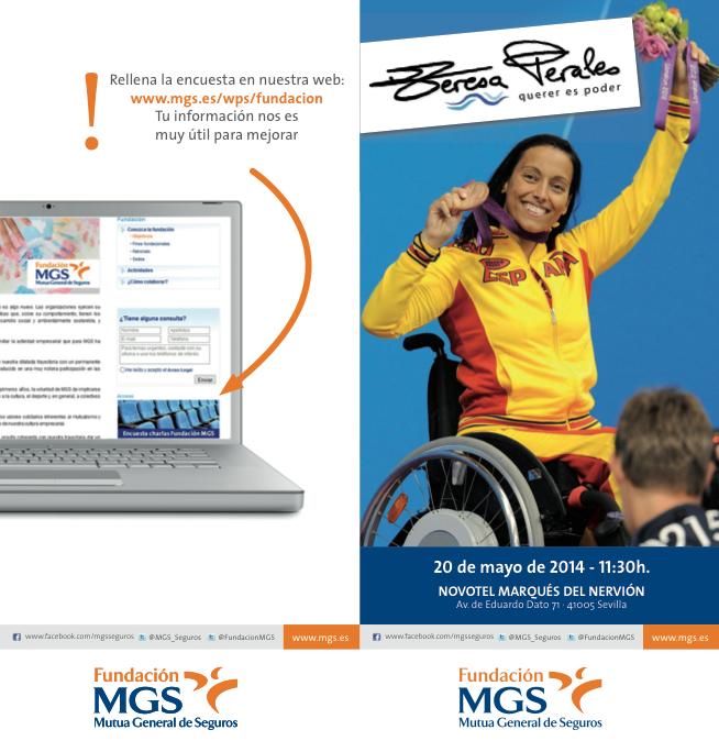 Jornada Fundación MGS Mutua General de Seguros, Sevilla. Teresa Perales