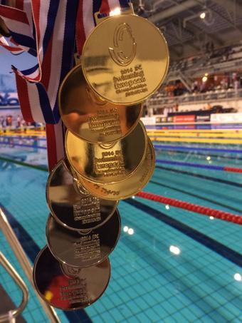 Siete medallas Teresa Perales campeonato europeo natación